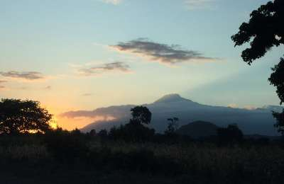 Kili sunset view in Tanzania
