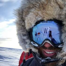 Alex Pancoe North Pole selfie
