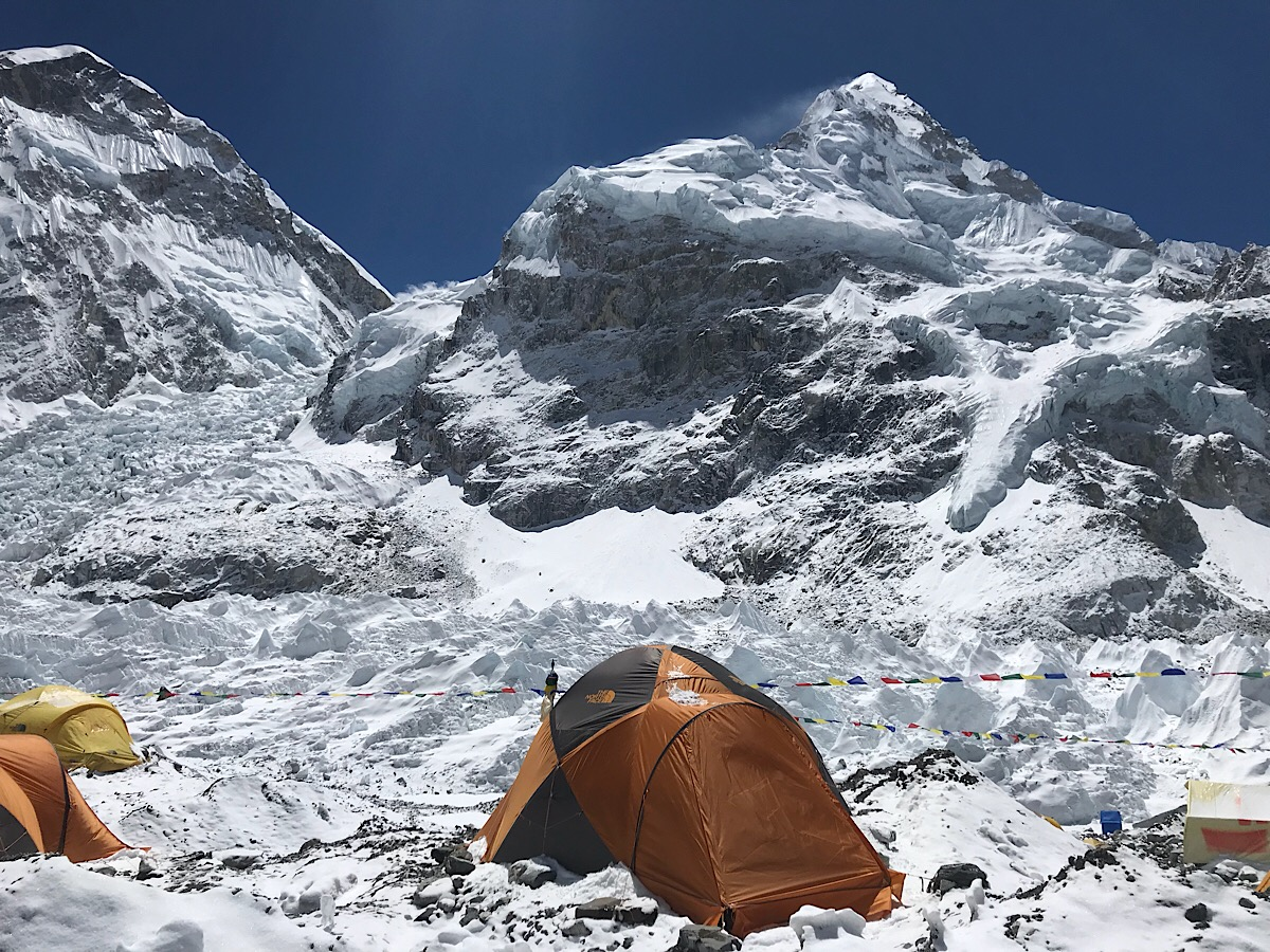 Pre Monsoon departures enjoy an overnight at Everest Base Camp - Bronwen  Waters