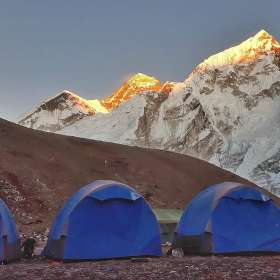 Everest sunset Gorak Shep camp