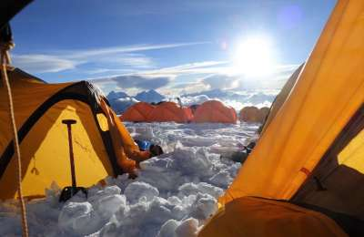 Camp 2 on Cho Oyu Dean Staples Crop