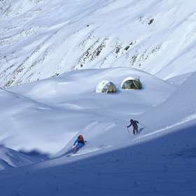 First Tracks Wanaka snow domes Hero