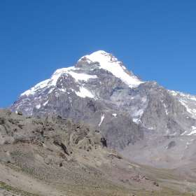 Aconcagua view from Plaza Argentina